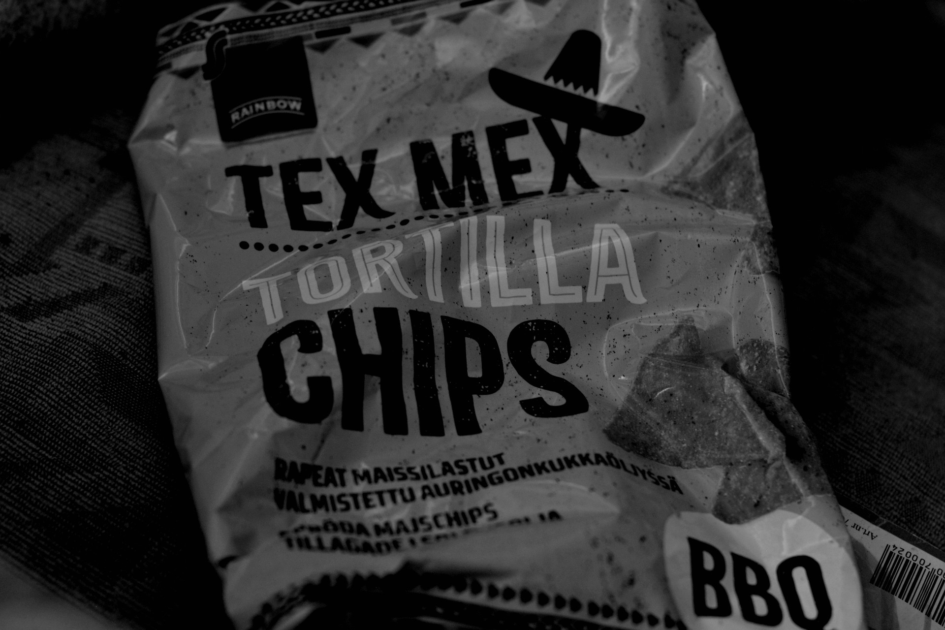 Rainbow Tex Mex tortilla chips