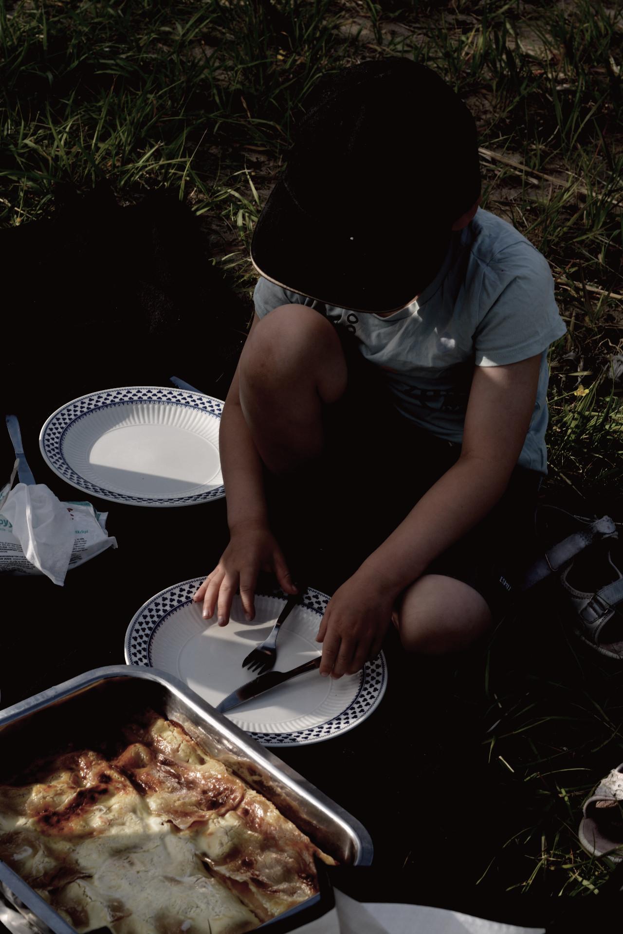 Utflykt med barn, äta mat ute