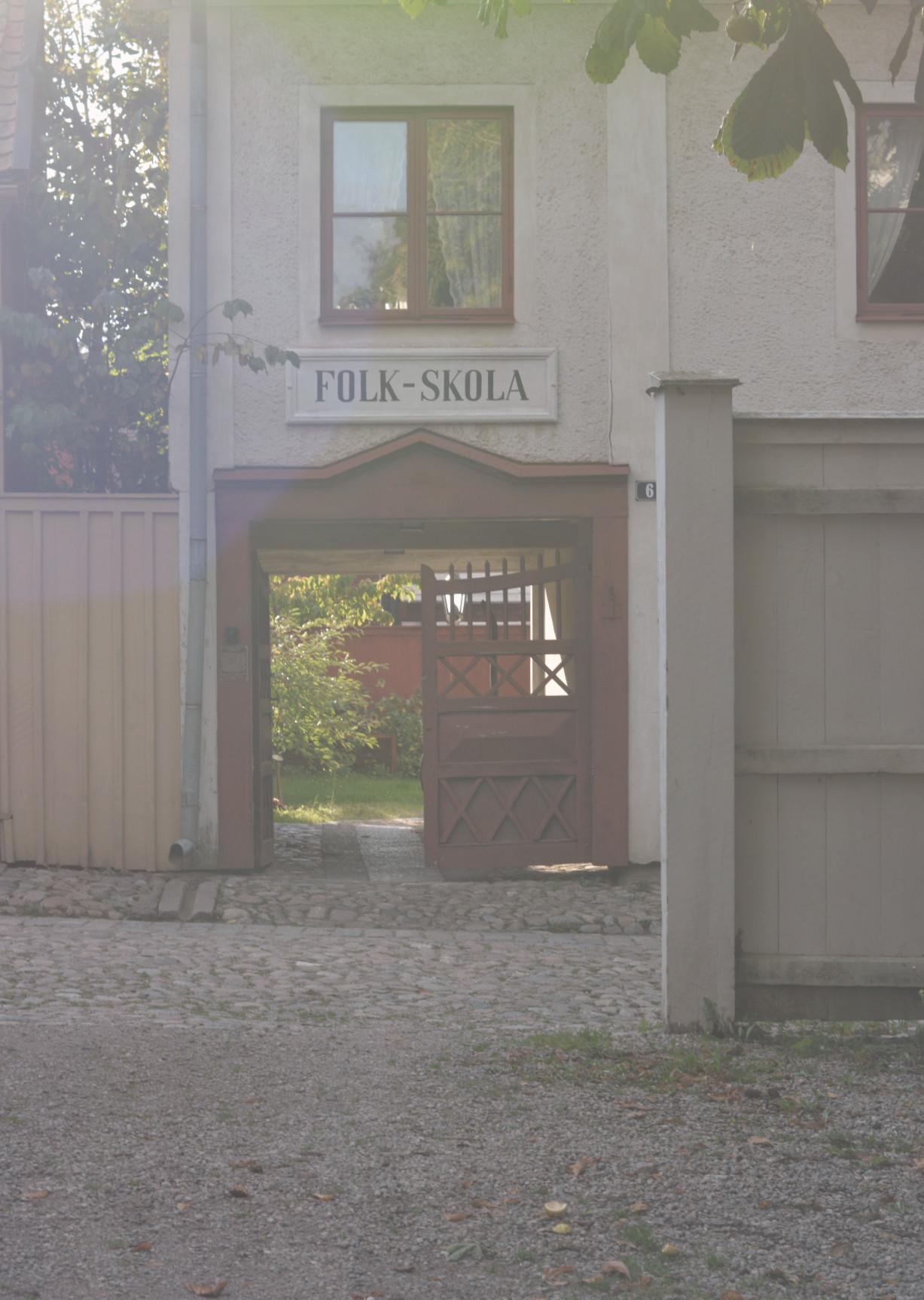 Folkskola i gamla Linköping, retrobild.