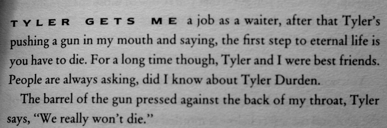 Citat ur boken Fight Club.