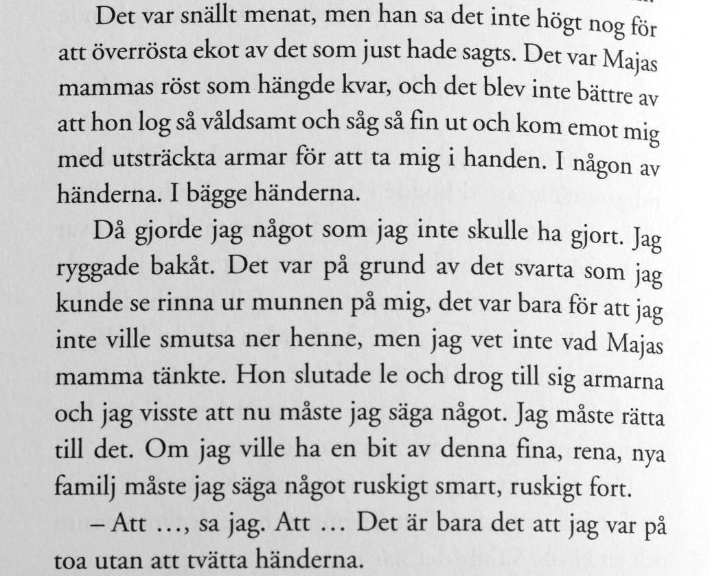 Citat ur Maskrossång av Hilde Hagerup